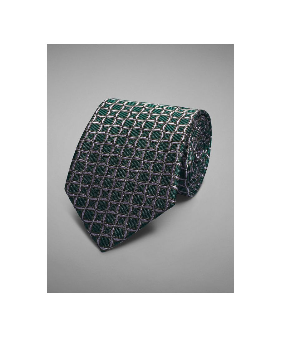 Image for Diamond Tile Woven Tie
