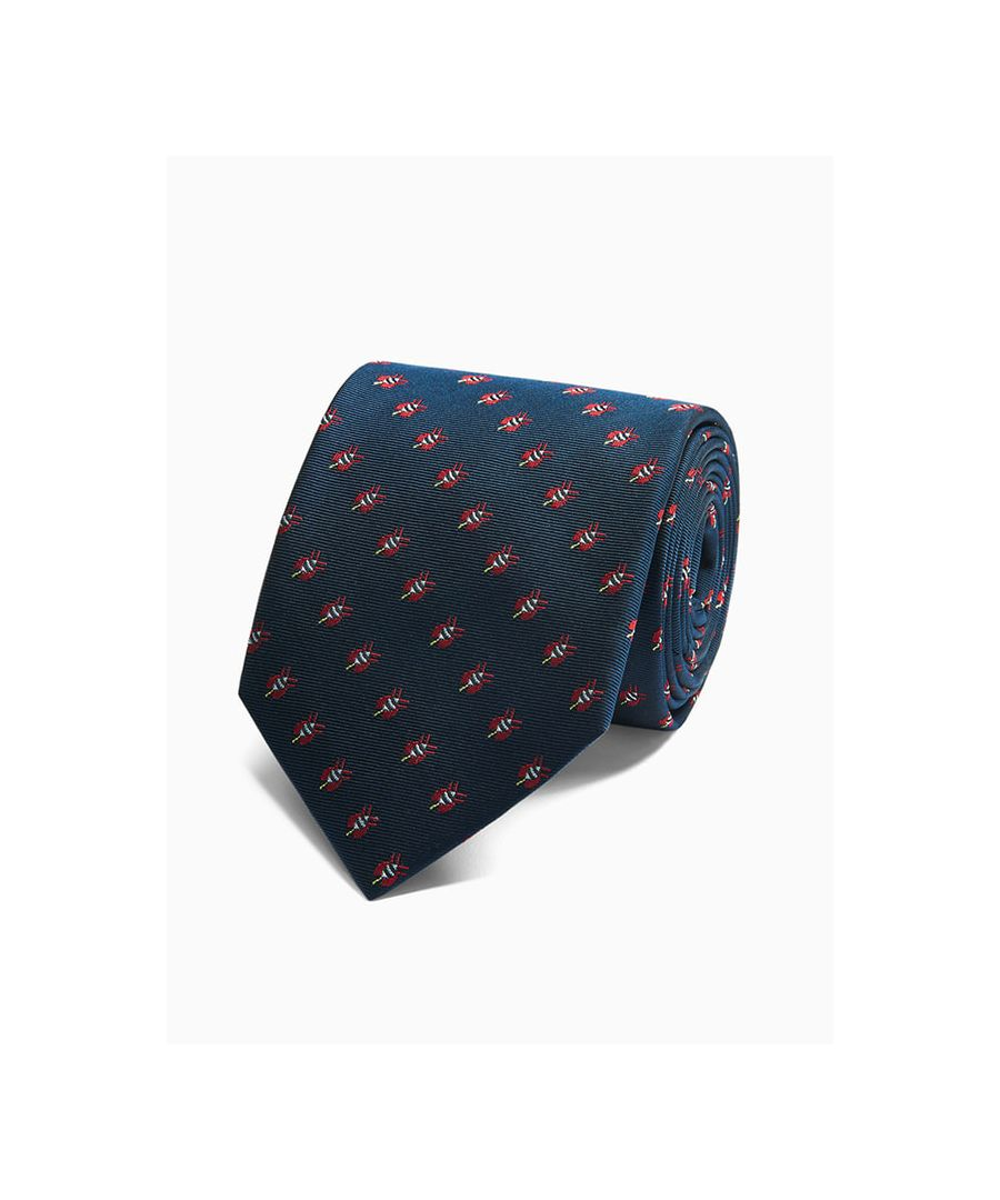 Image for Bee Motif Woven Tie