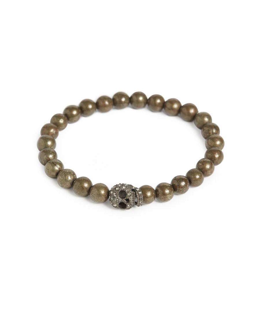Image for Pyrite Crystal Skull Bracelet