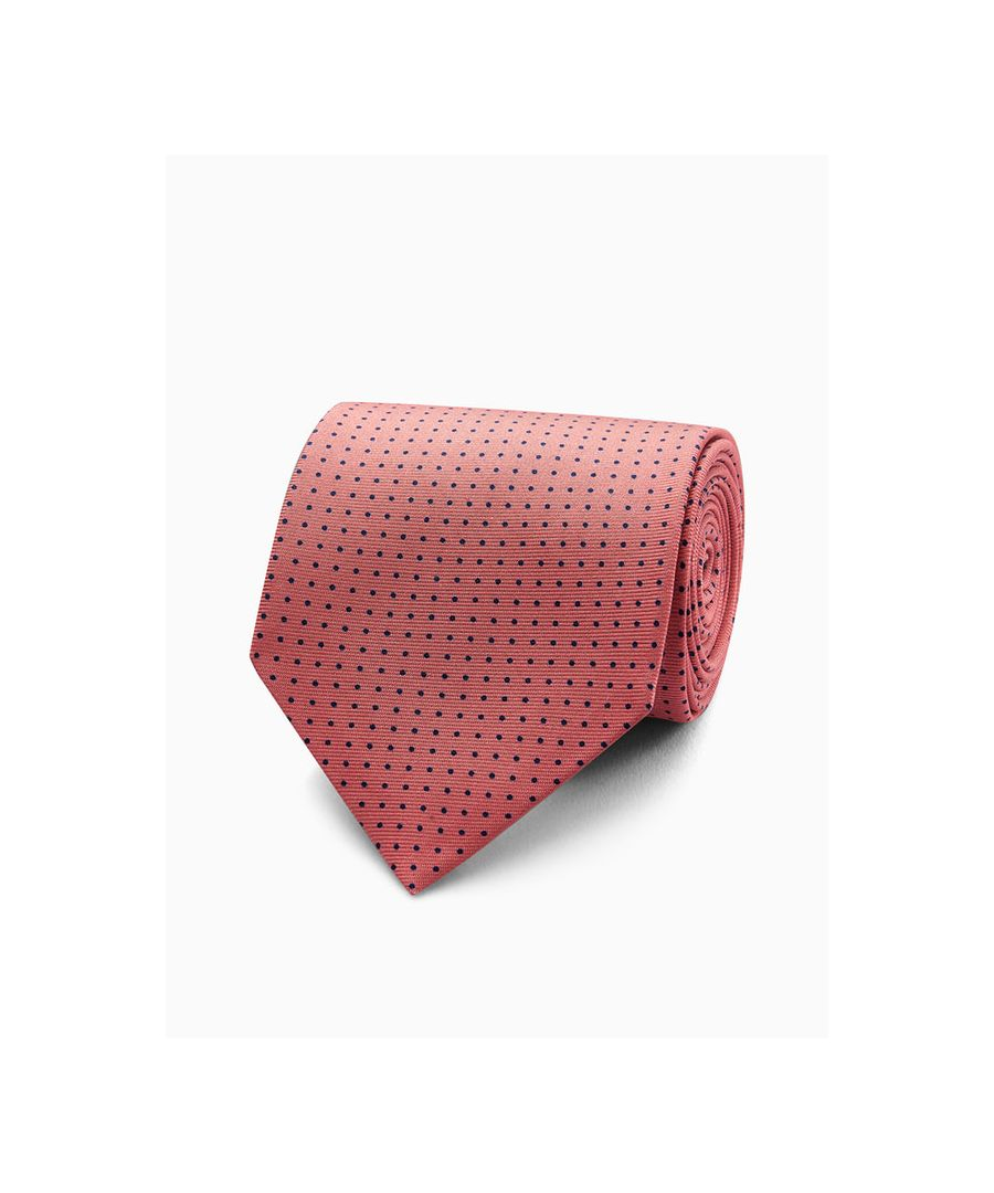 Image for Small Spot Printed Silk Tie