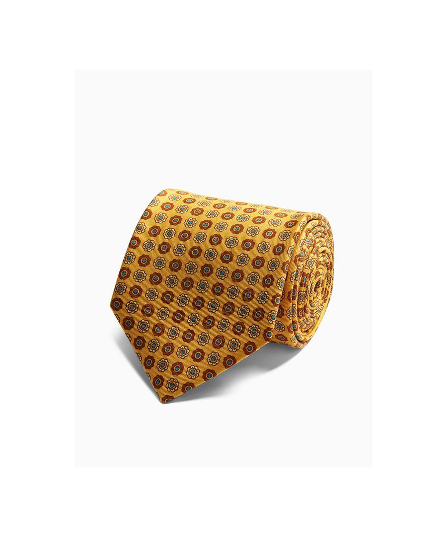 Image for Floral Medallion Printed Silk Tie