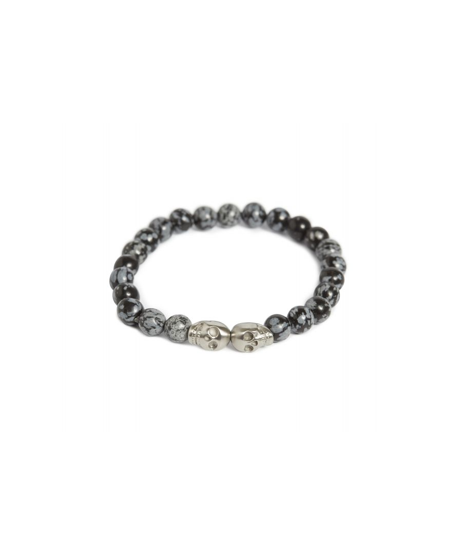 Image for Isaac Snowflake Obsidian Bracelet