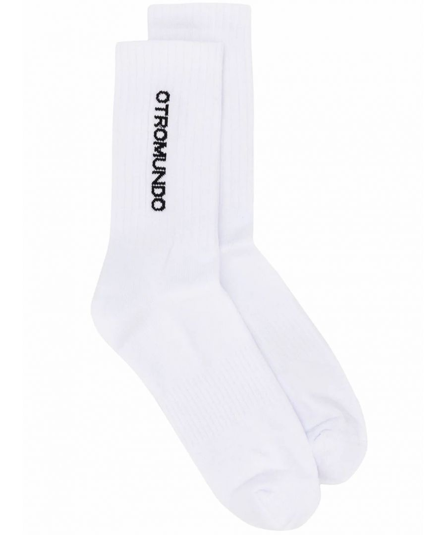 Image for MARCELO BURLON MEN'S CMRA008R20FAB0020110 WHITE COTTON SOCKS