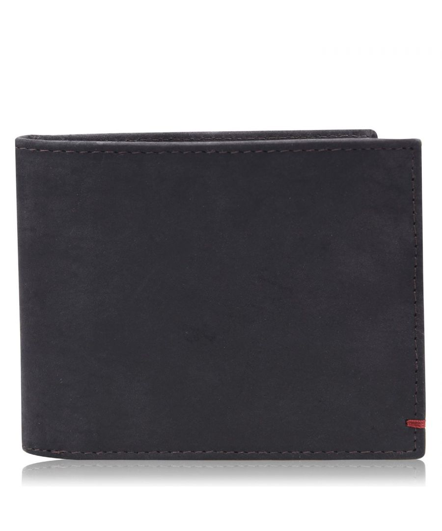 Image for Firetrap Mens Classic Wallet Accessory Tonal Stitching Leather