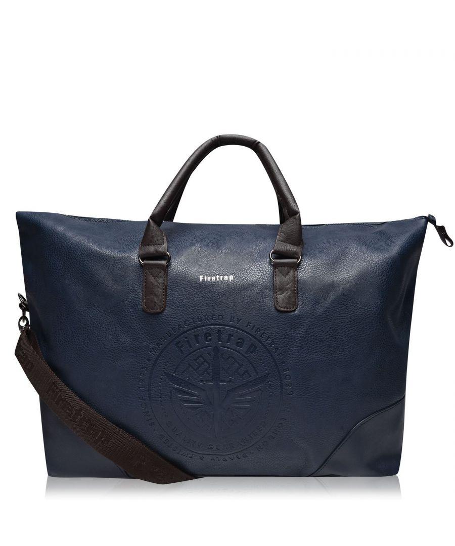 Image for Firetrap Formal Holdall Bag Embossed Detail Adjustable Shoulder Strap