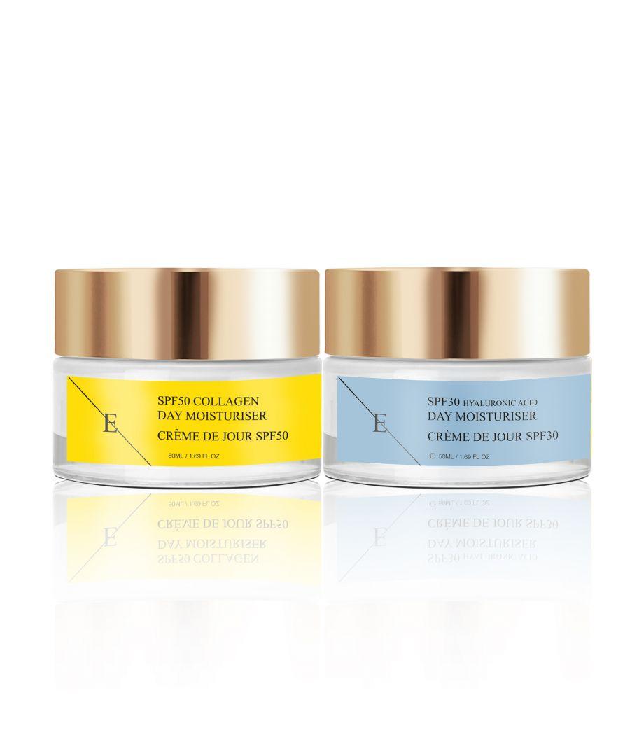 Image for SPF50 Collagen Day Cream 50ml + SPF30 Hyaluronic Acid Day Cream 50ml