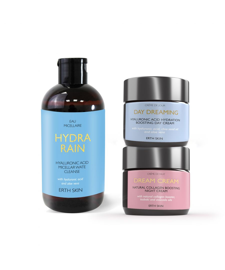 Image for DAY DREAMING - day cream + DREAM CREAM - night cream+HYDRA RAIN - micellar cleansing water