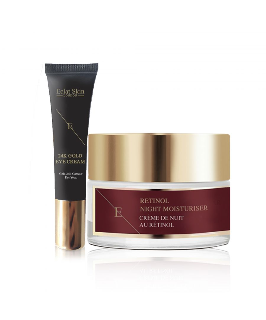 Image for Retinol + Caviar Moisturiser 50ml + Under Eye Cream 24K Gold - 15ml