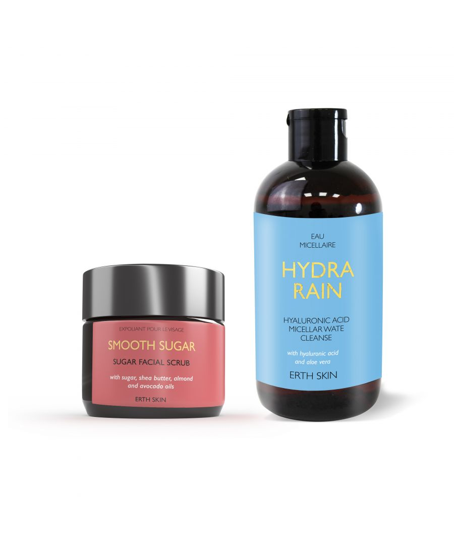 Image for SMOOTH SUGAR - sugar scrub + HYDRA RAIN - micellar cleansing water