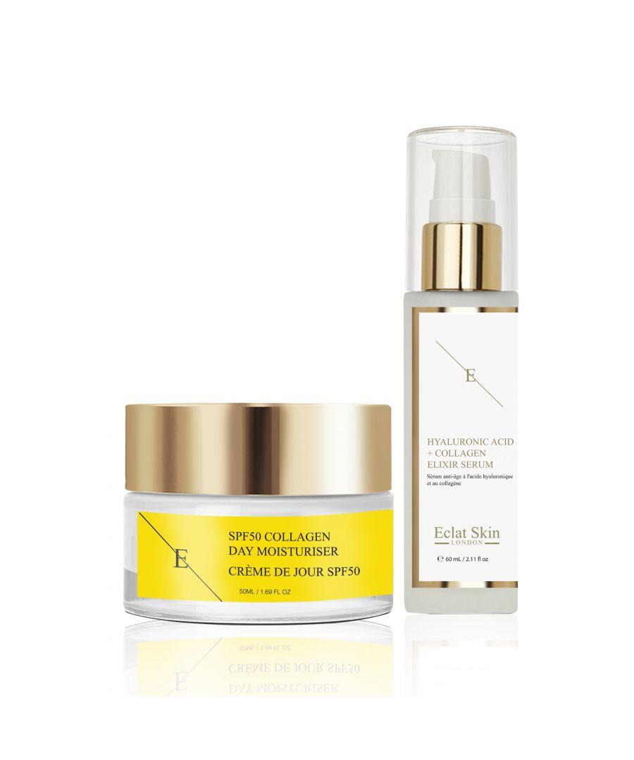 Image for SPF50 Collagen Day Cream 50ml + Hyaluronic Acid & Collagen Serum - 60ml