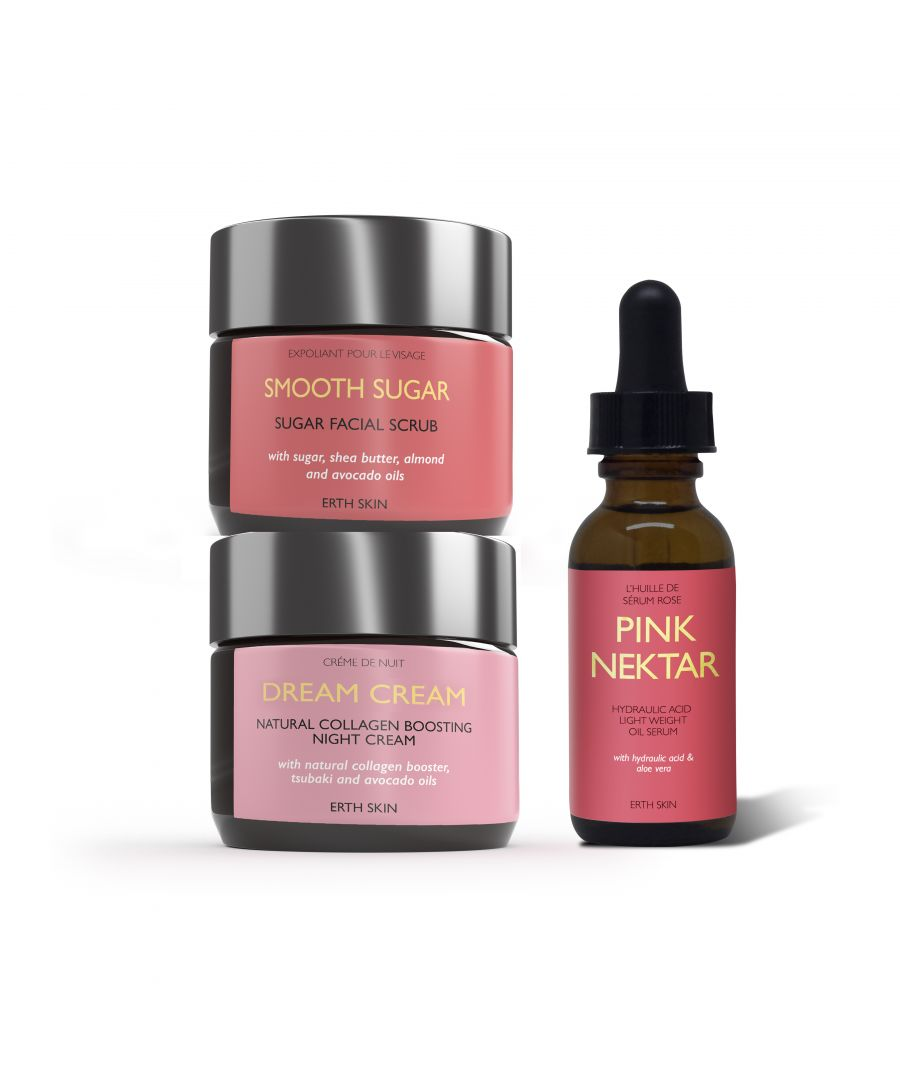 Image for PINK NECTAR - serum +DREAM CREAM - night cream + +SMOOTH SUGAR - sugar scrub
