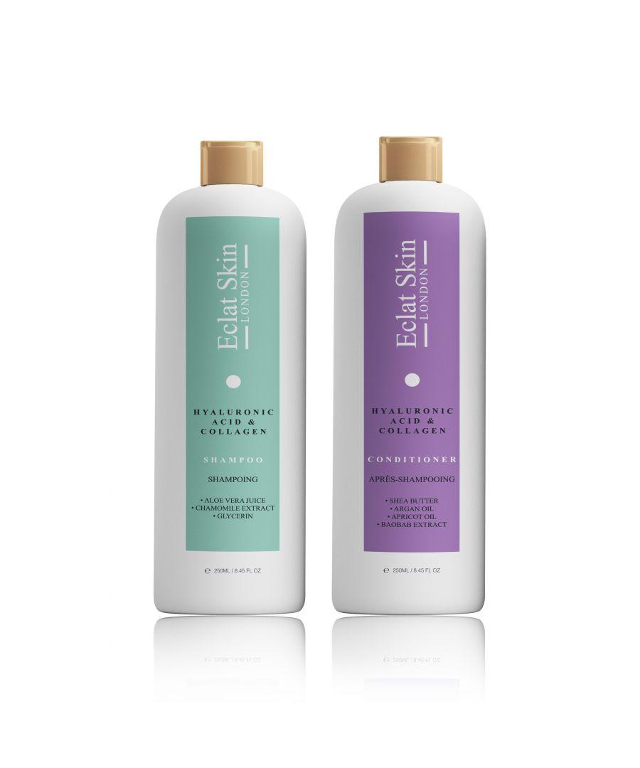 Image for Hyaluronic Acid + Collagen Shampoo 250ml + Hyaluronic Acid + Collagen Conditioner 250ml