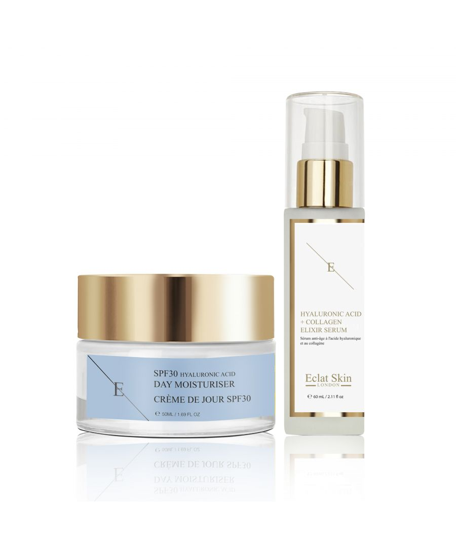 Image for SPF30 Hyaluronic Acid Day Cream 50ml + Hyaluronic Acid & Collagen Serum - 60ml