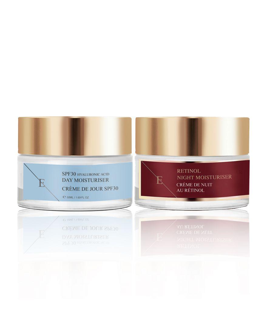 Image for Retinol + Caviar Moisturiser 50ml + SPF30 Hyaluronic Acid Day Cream 50ml