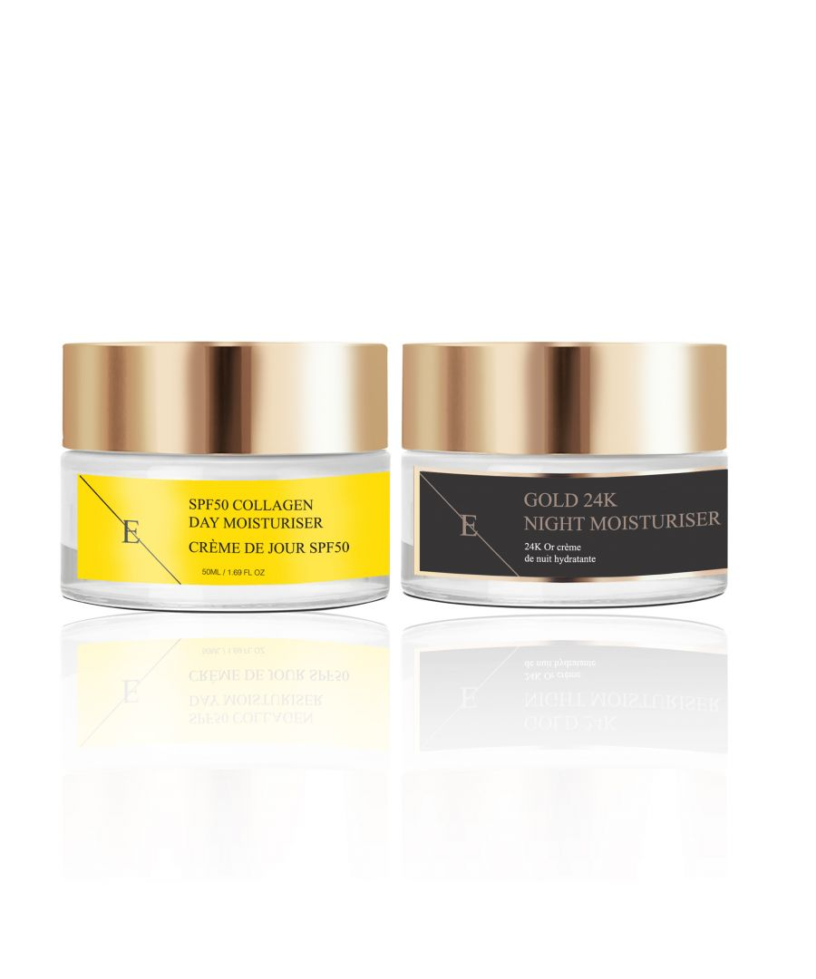 Image for SPF50 Collagen Day Cream 50ml + Anti-Wrinkle Night Moisturiser 24K Gold - 50ml