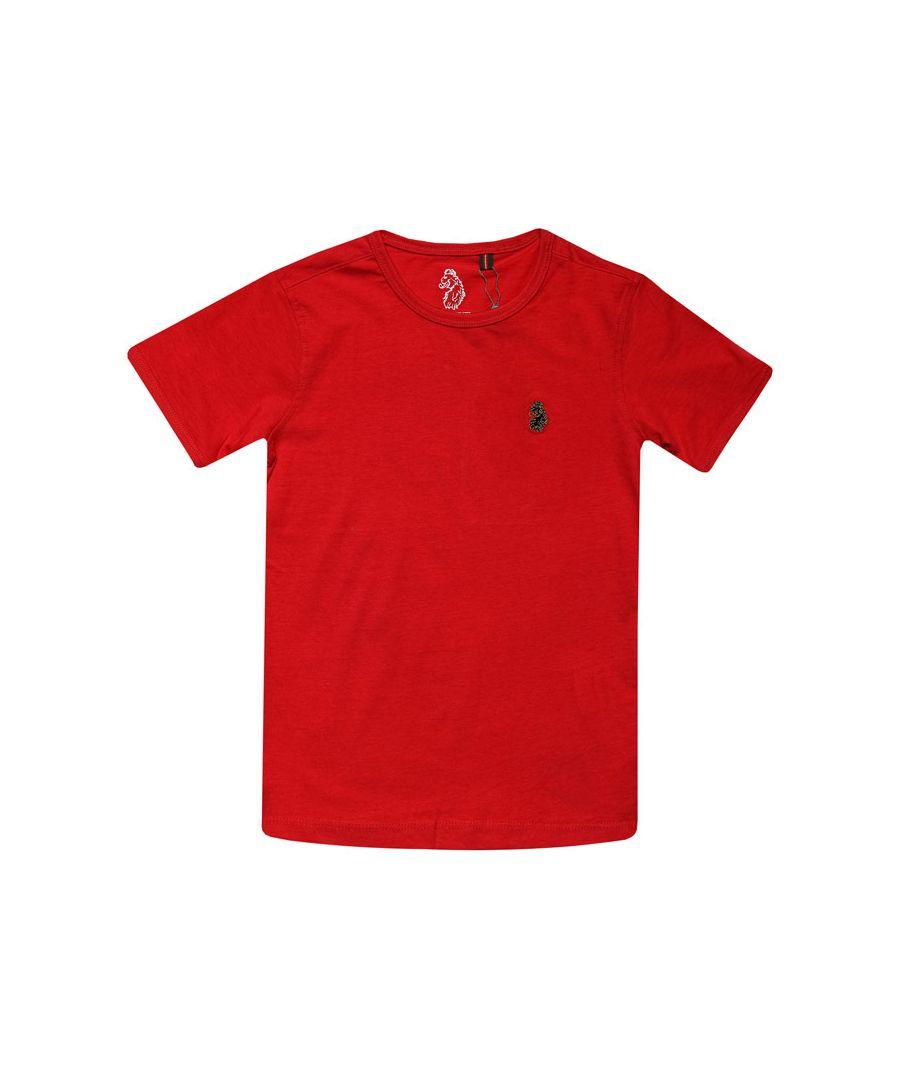 Image for Boy's Luke 1977 Junior Trouser Snake Crew T-Shirt in Red