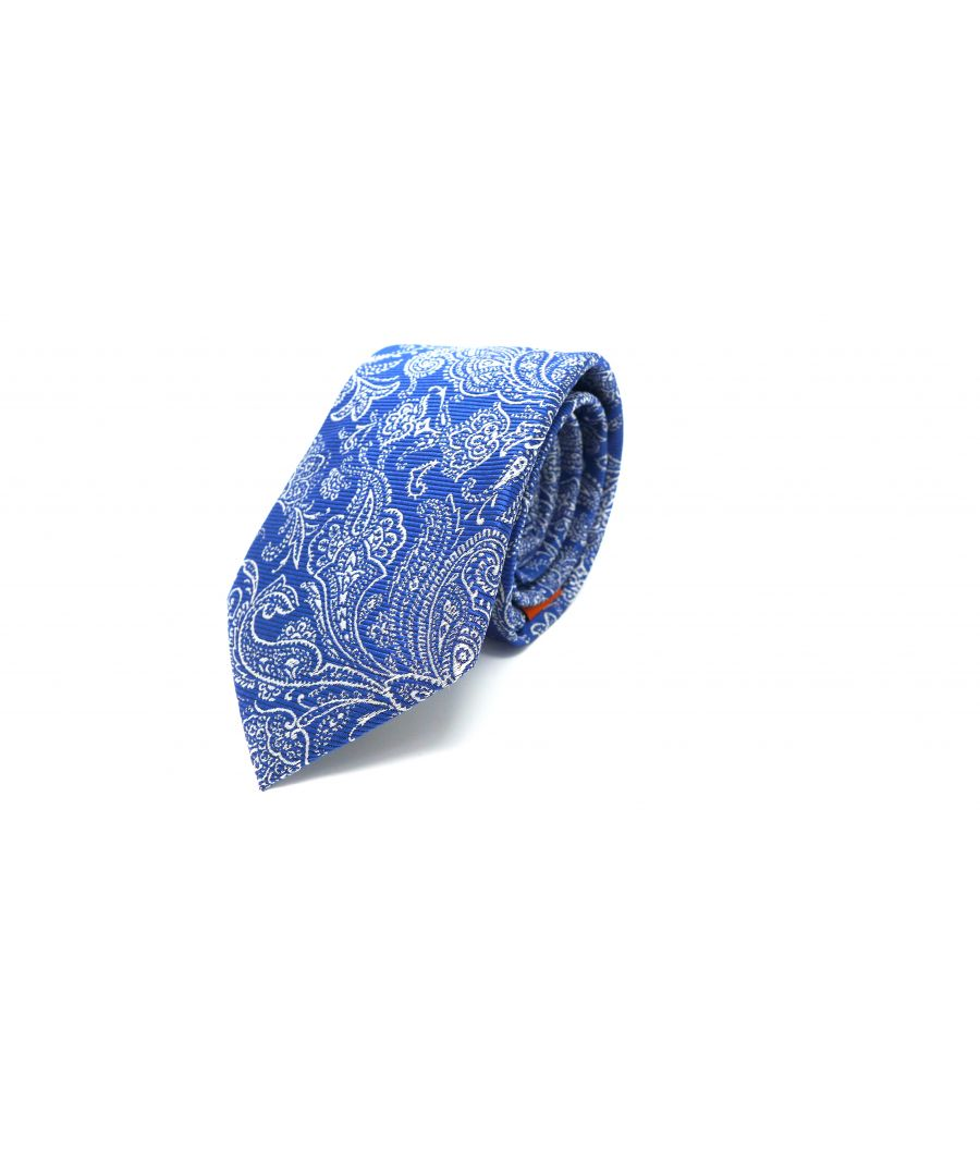 Image for SC TIE 10104 DAMASK 7CM NAVY