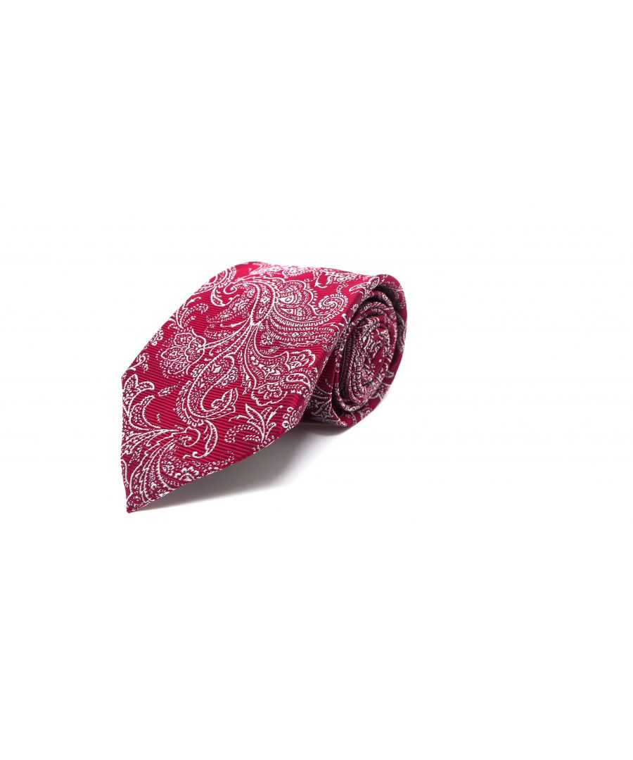 Image for SC TIE 10104 DAMASK 7CM RED