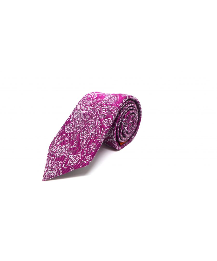 Image for SC TIE 10104 DAMASK 7CM MAGENTA