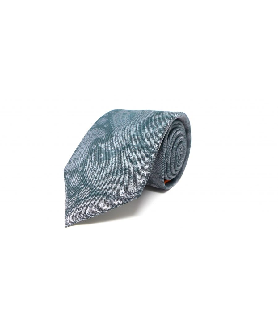 Image for SC TIE 10020 SILVER PAISLEY TEAL