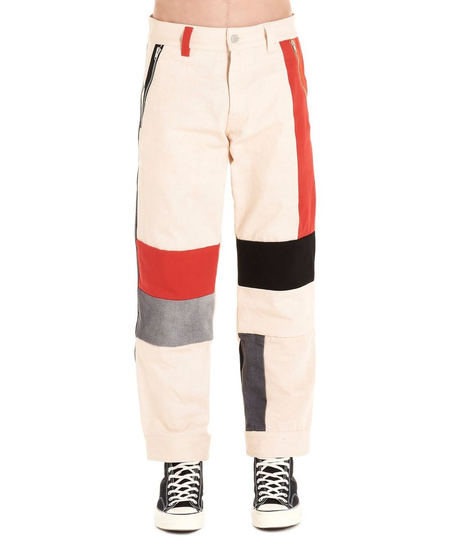 Image for DIESEL RED TAG MEN'S 00SCUEBWHI MULTICOLOR COTTON JEANS
