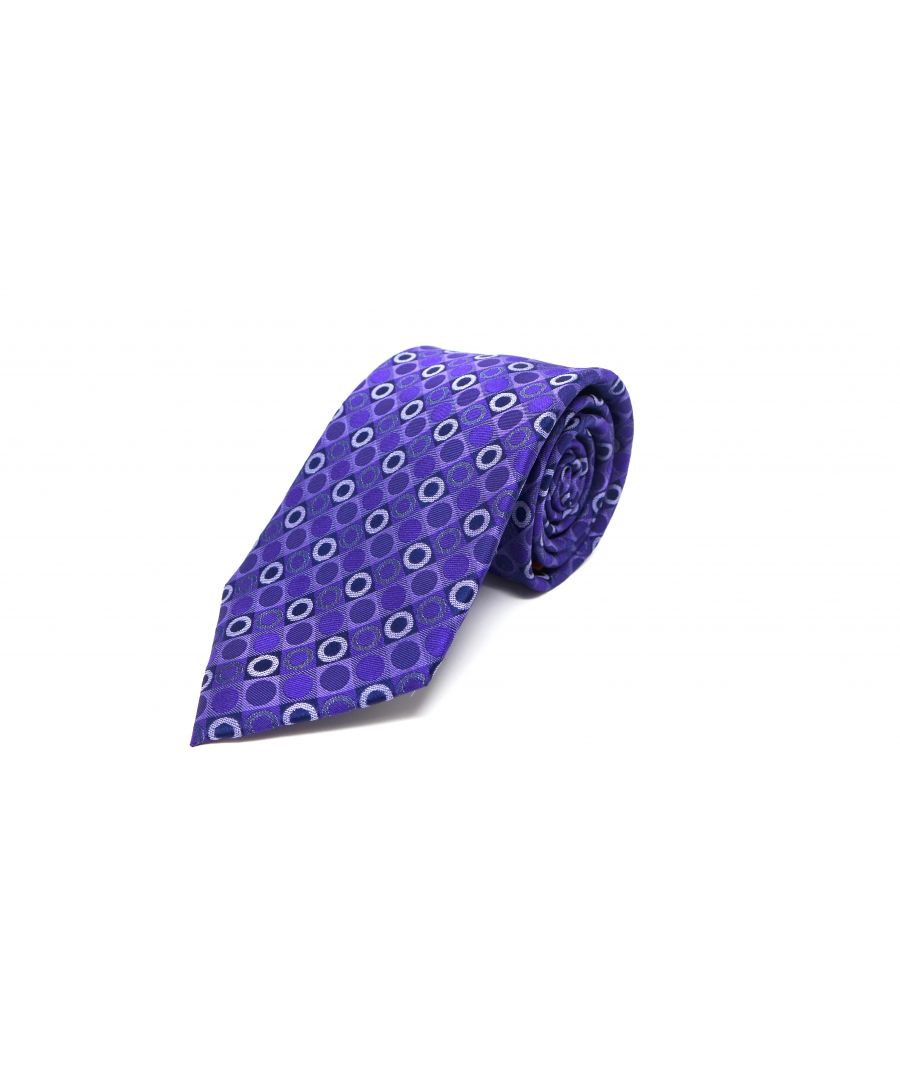 Image for SC TIE 10117 CHECKERS PURPLE