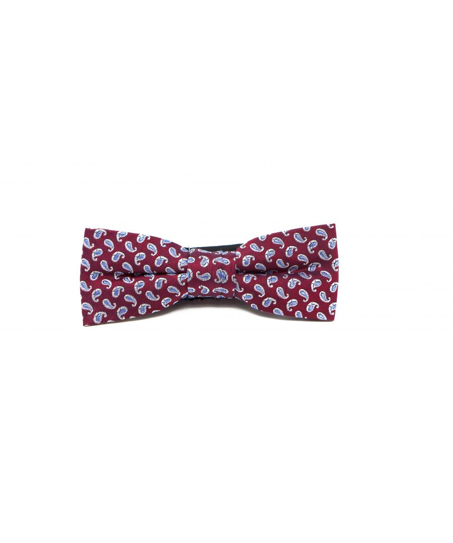 Image for BOW TIE PAISLEY BURGUNDY