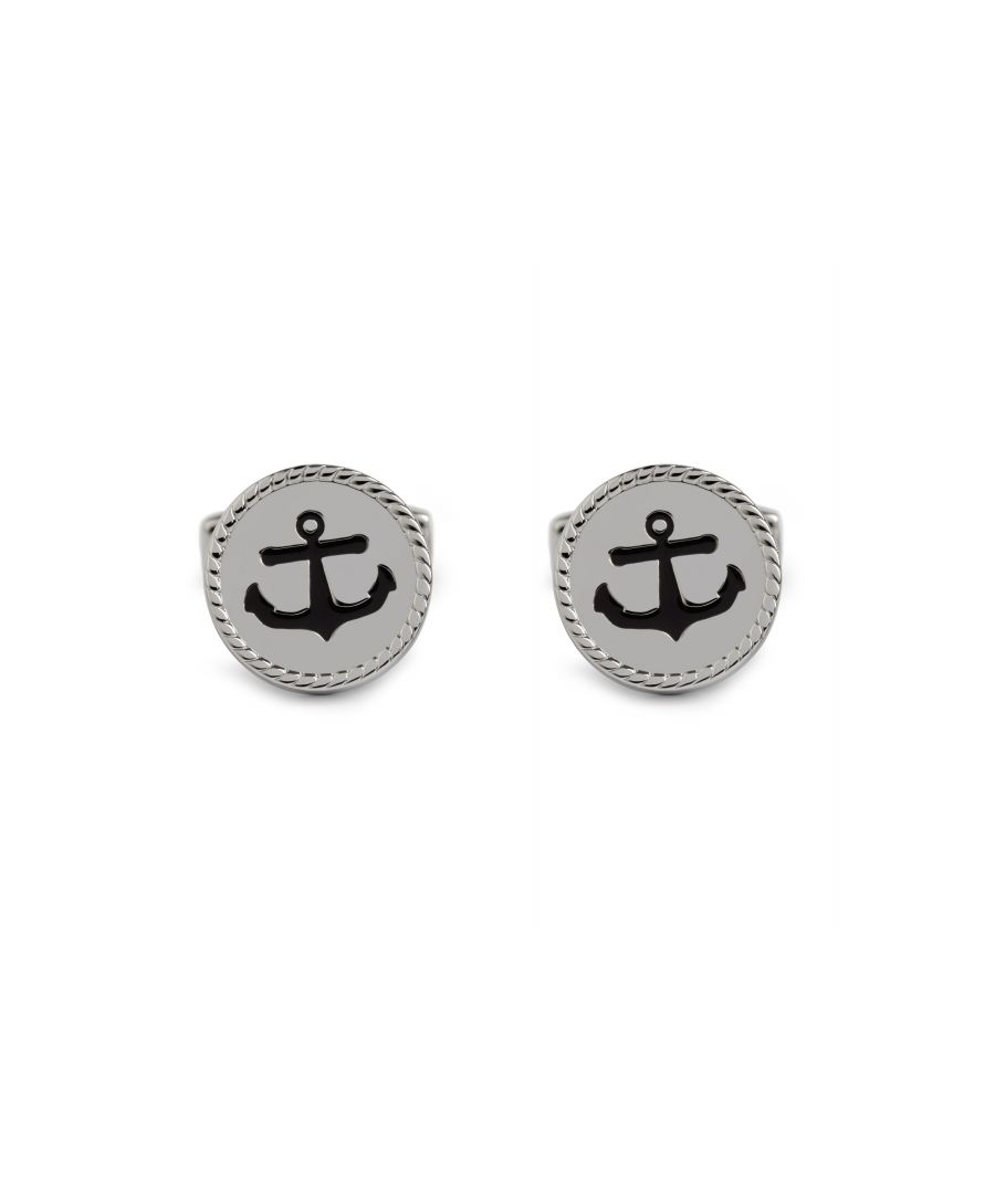 Image for Navy Enamel Anchor