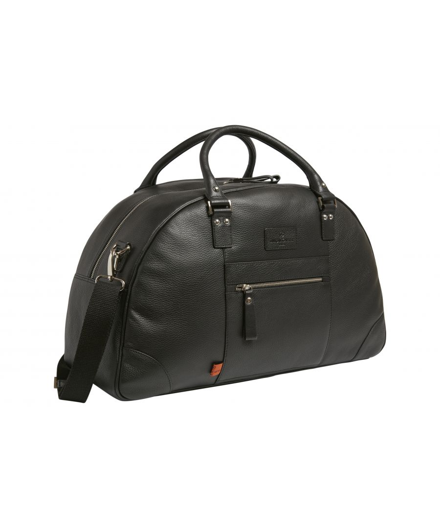 Image for Folkestone Leather Weekend Bag Black
