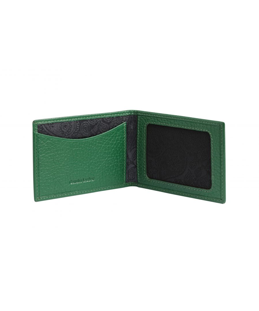 Image for Green Leather Travelcard Holder