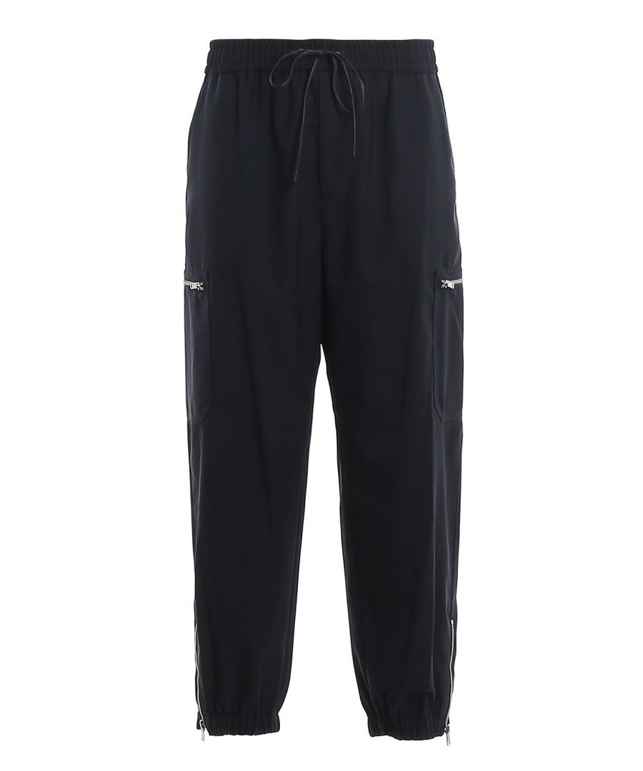 Image for 3.1 PHILLIP LIM MEN'S S2015161WPLMMI401 BLACK WOOL JOGGERS