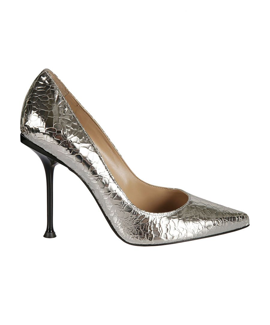 Image for SERGIO ROSSI WOMEN'S A81751MCAL088102 SILVER LEATHER PUMPS