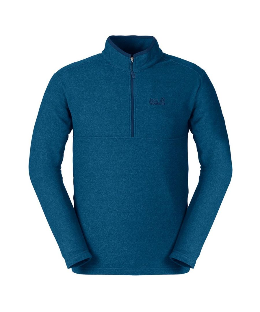 Image for Jack Wolfskin Arco 1/4 Zip Mens Fleece Sweatshirt Blue - L