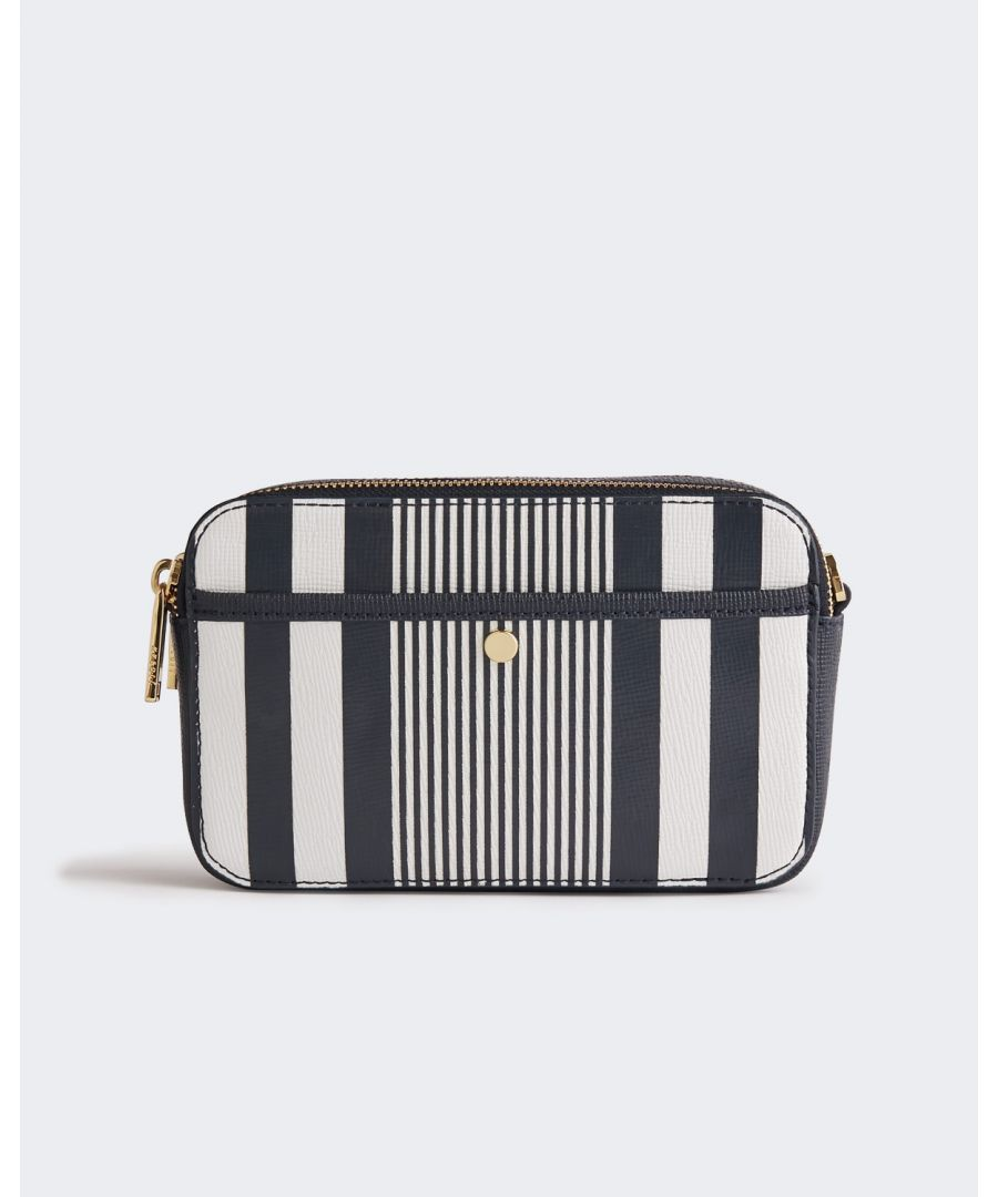 Image for Ester Leather Stripe Crossbody