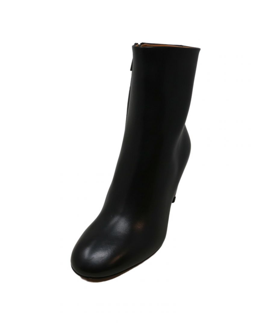 Image for Clergerie Paris Women's Maria Black / Double Gold Ankle-High Leather Boot - 10M