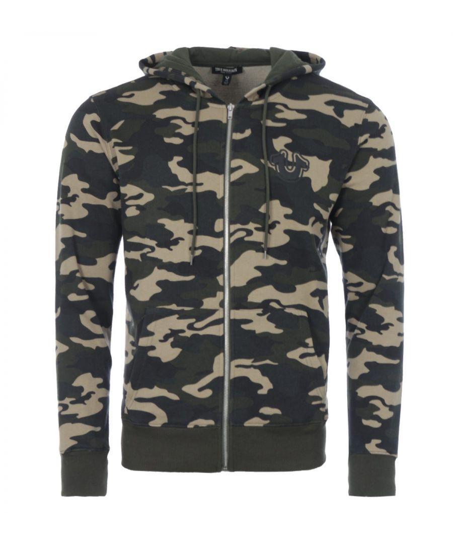 Image for True Religion Core Zip Up Hooded Sweatshirt - Camo
