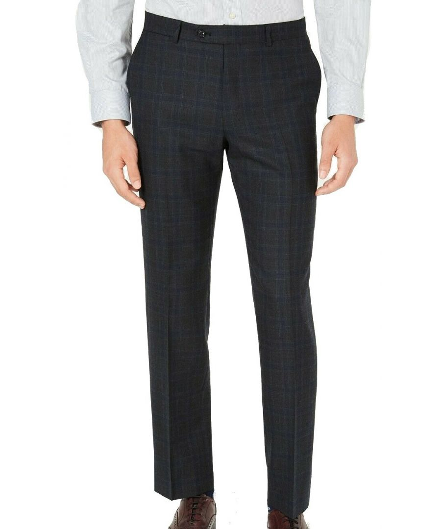Image for Tommy Hilfiger Men's Dress Pants Gray 34X30 Modern Fit Wool Stretch