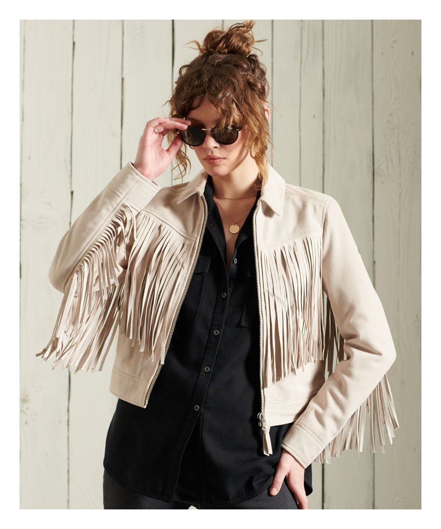 Image for Superdry Festival Leather Jacket