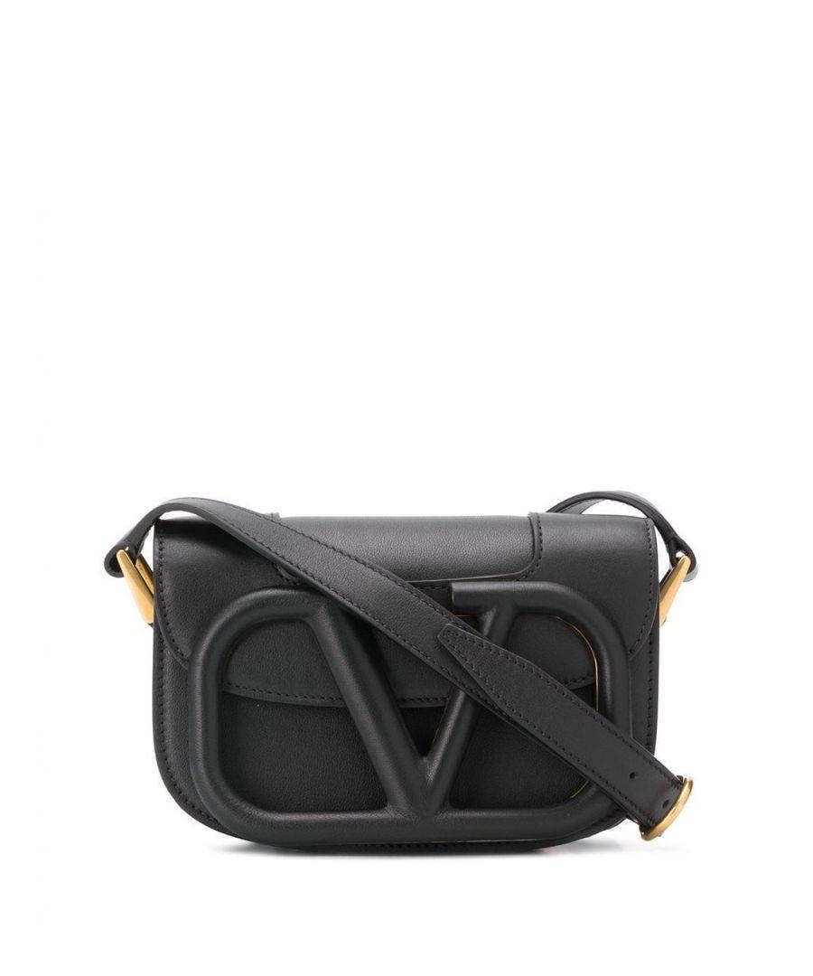 Image for VALENTINO WOMEN'S TW0B0G45MZF0NO BLACK LEATHER SHOULDER BAG