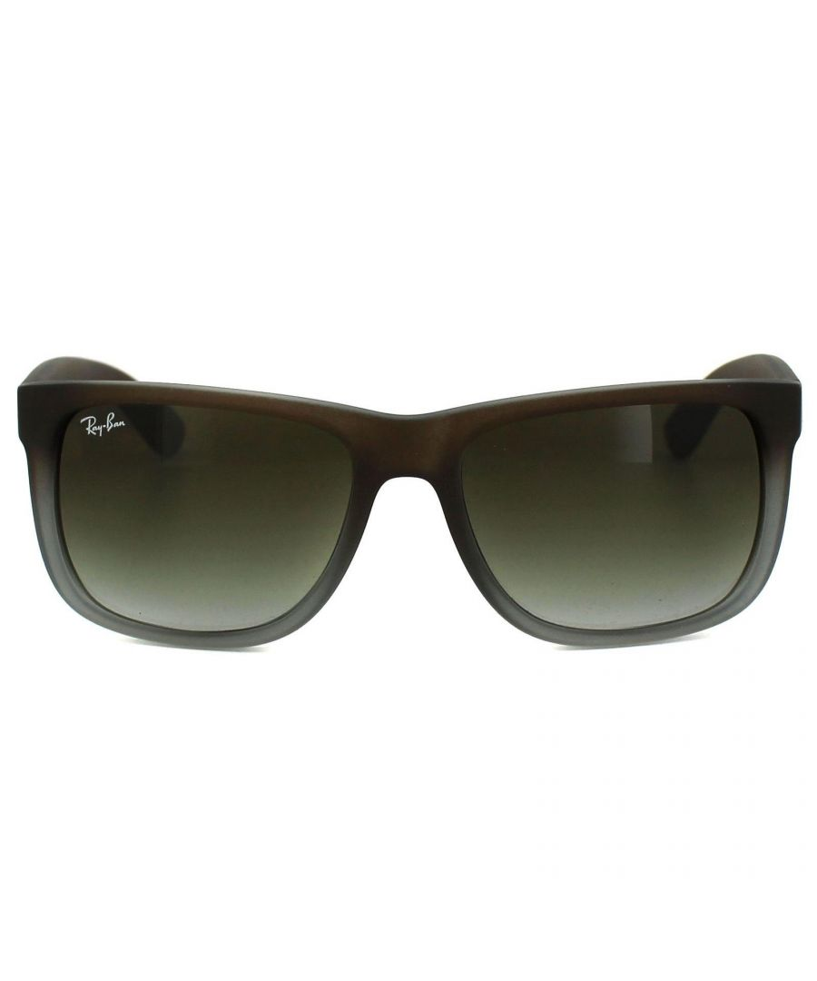 Image for Ray-Ban Sunglasses Justin 4165 854/7Z Rubber Brown Fade Green Gradient 55mm