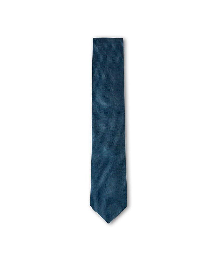 Image for Men's Hackett Grenadine Solid Tie in Teal