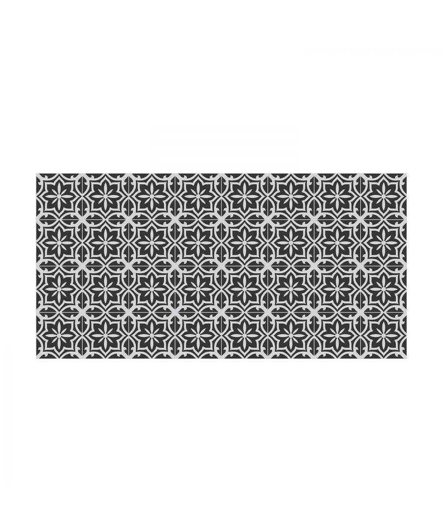Image for WFS6017 - Medieval Art Seamless Floral Pattern Tiles Floor Stickers 120cm x 60 cm