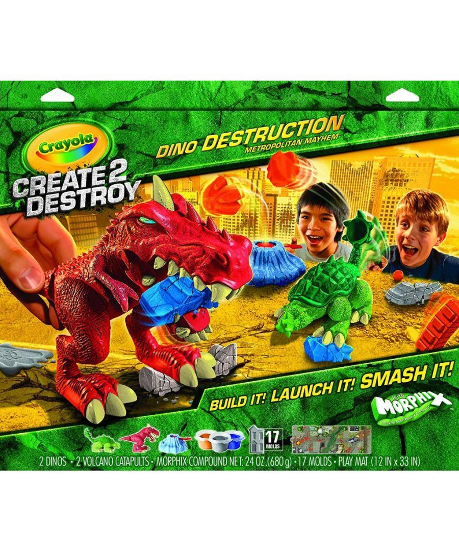 Image for Crayola Create 2 Destroy Dino Destruction Metropolitan Mayhem