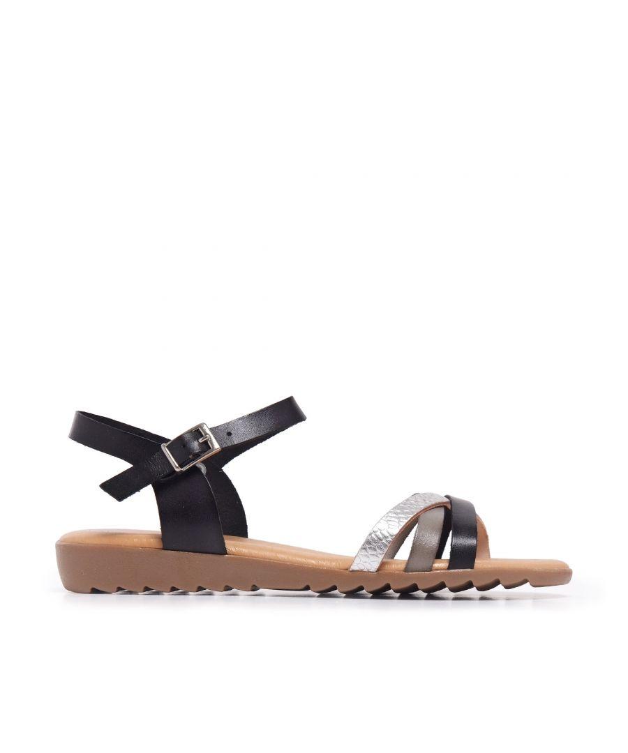 Image for Black Coffee Leather Sandals Flip Flop Women Eva Lopez
