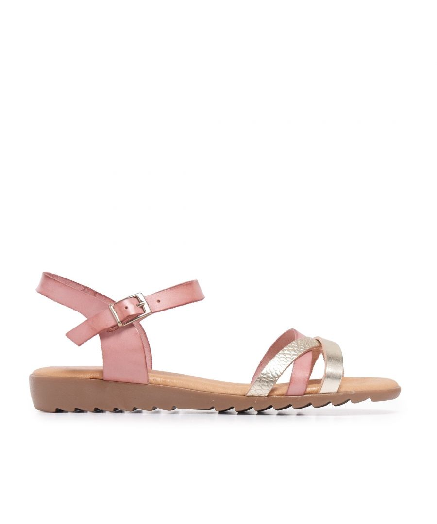 Image for Pink Leather Sandals Flip Flop Women Eva Lopez