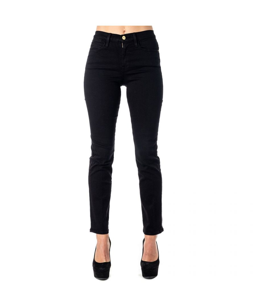 Image for FRAME WOMEN'S LHST403FILMNOIR BLACK COTTON JEANS