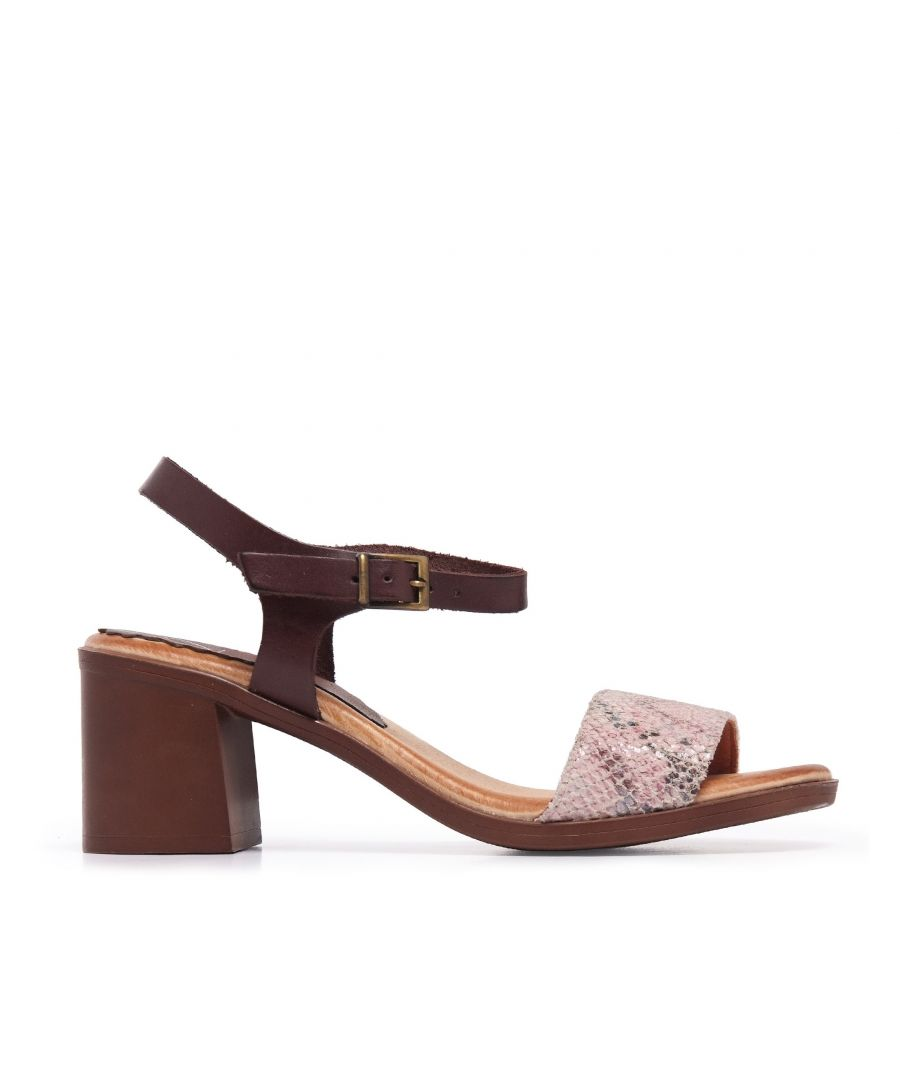 Image for Leather Peep Toe Women Pink Sandals Eva López