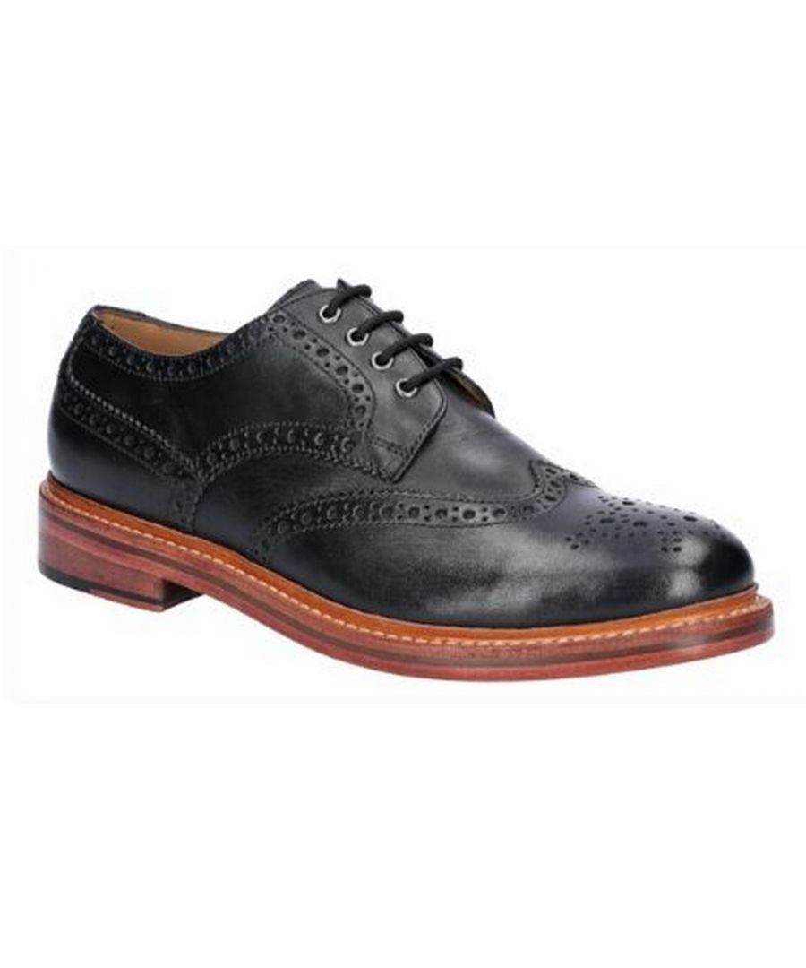 Image for Cotswold Mens Quenington Goodyear Welt Lace Up Leather Shoe (Black)