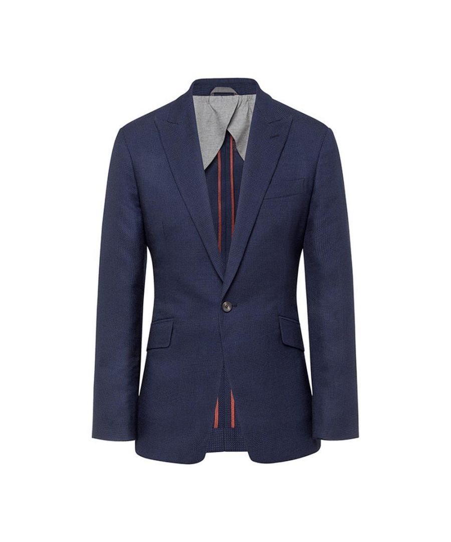 Image for Men's Hackett, Brushed Cotton Blue Check Jacket in Blue