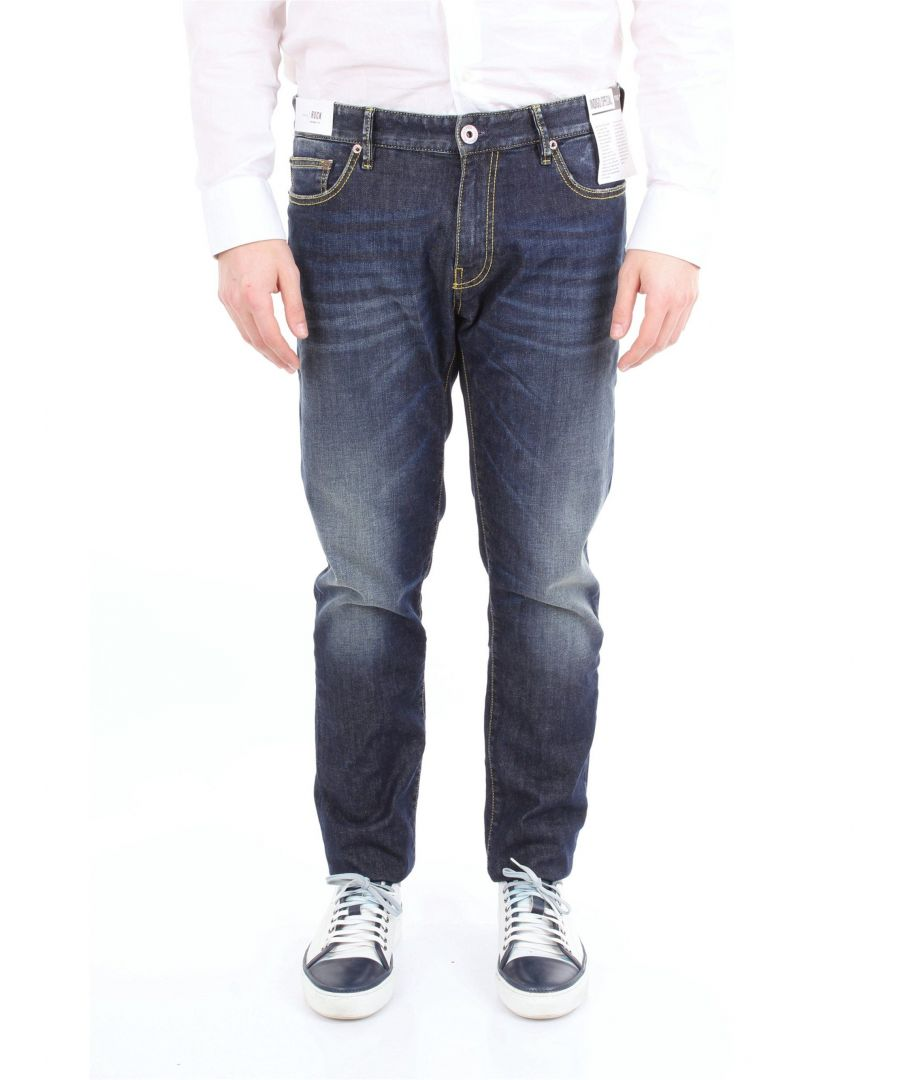 Image for PT01 MEN'S TX13C5KJ25Z20DESJEANSSCURO BLUE COTTON JEANS